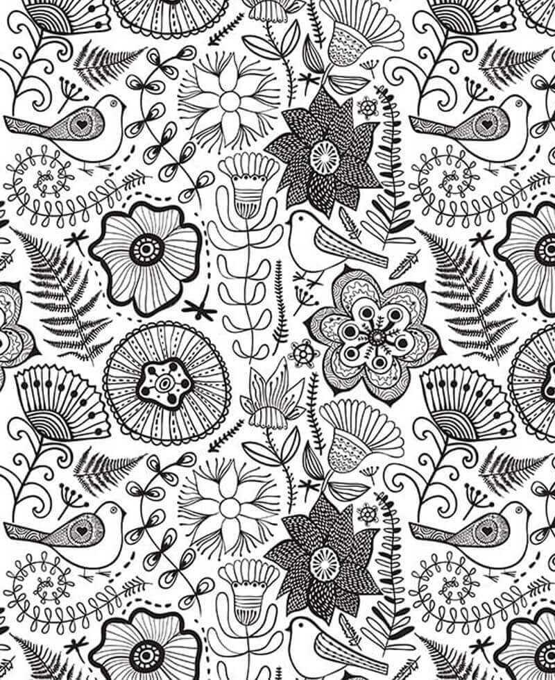 Coloriage - Jardin Enchanté