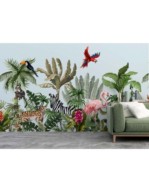 Papier Peint Panoramique Tropical Jungle