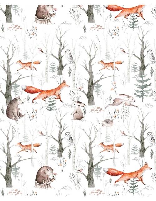 Papier Peint Forêt Renard