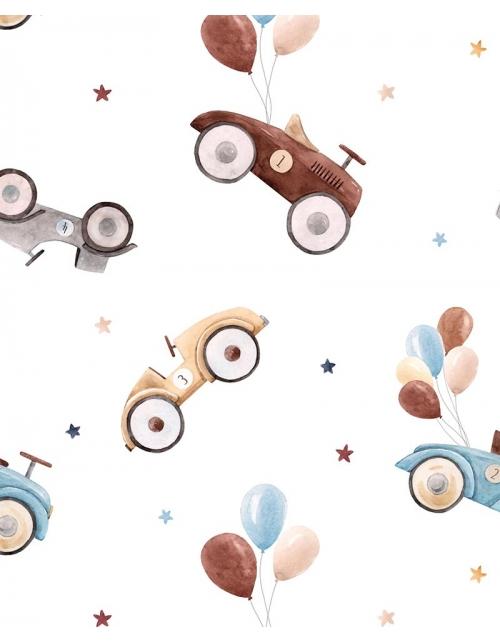 Papier Peint Vieille voiture - Chambre enfant - Pilou et Lilou