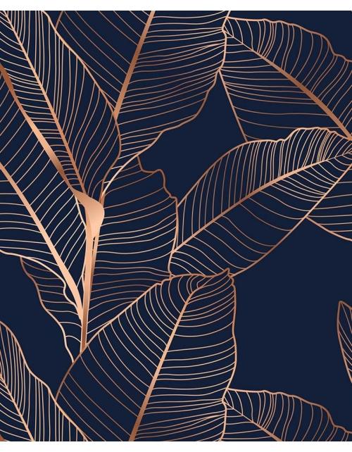 Papier Peint Tropical Blue - Pilou et Lilou