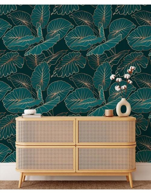 Papier Peint Tropical Art Green