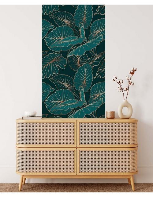 Papier Peint Tropical Art Green - Pilou et Lilou