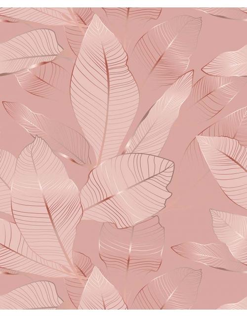 Papier Peint Tropical Pink