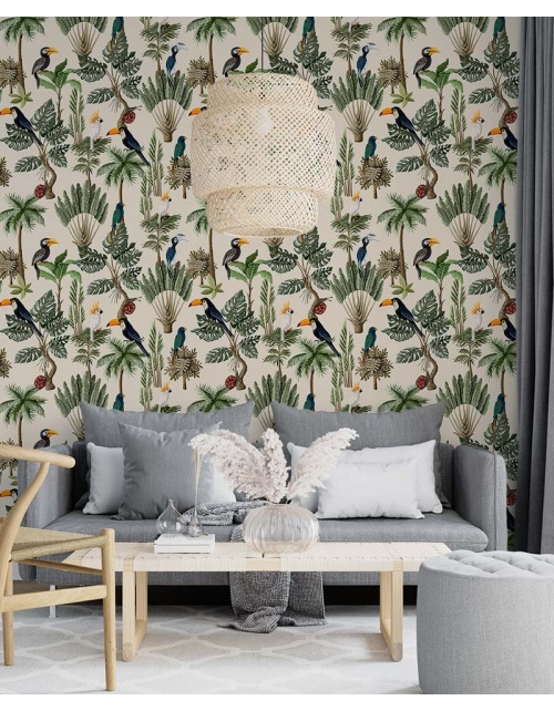 Papier Peint Tropical Perroquet