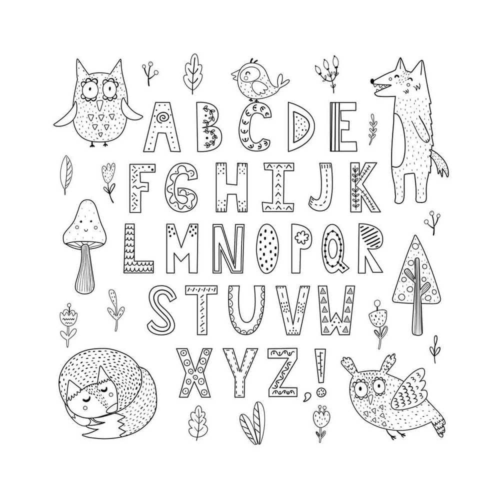 Coloriage géant éducatif, Alphabet forme des lettres, pour les enfants