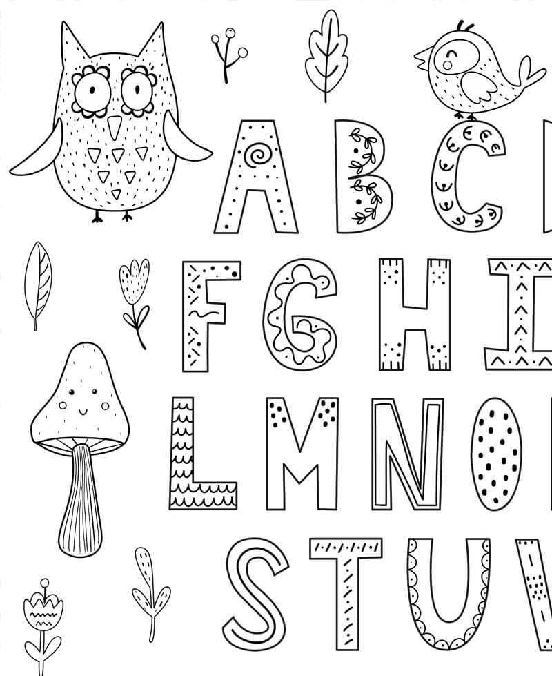 Coloriage Geant Educatif Alphabet Forme Des Lettres Pour Les Enfants