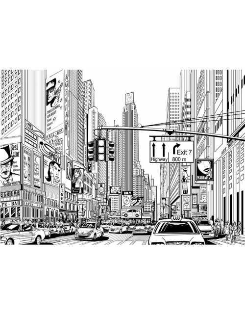 Coloriage - New-York Street
