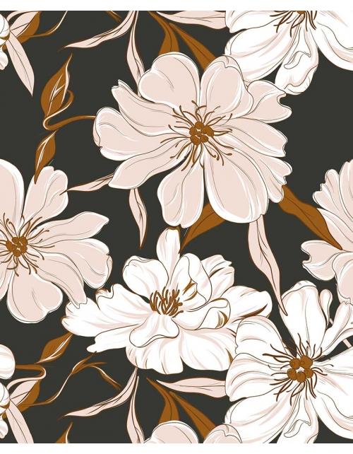 Papier Peint Jasmine - Vintage - Pilou et Lilou