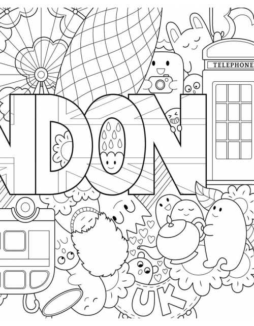 Coloriage - London
