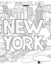 Coloriage - Love New-York