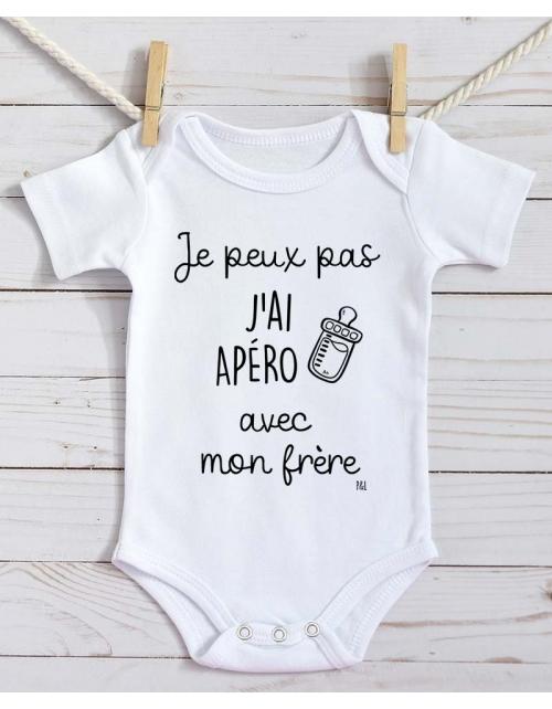 Body Bébé - Je peux pas j'ai Apéro avec Mon Frère