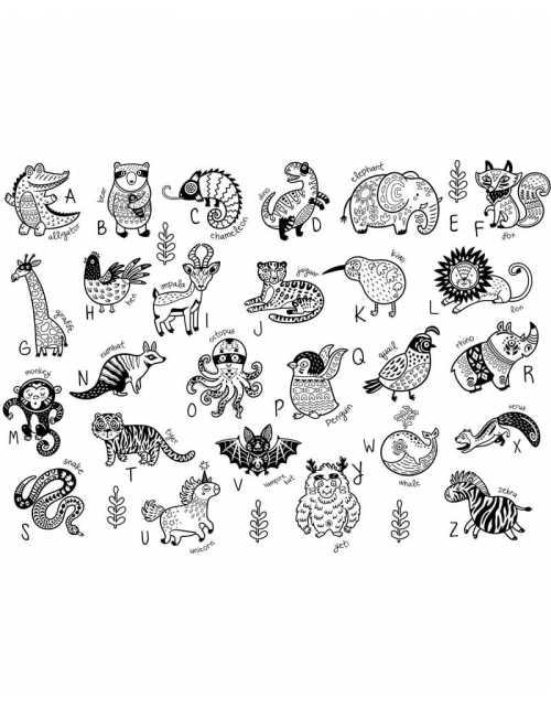 Coloriage - My English Alphabet