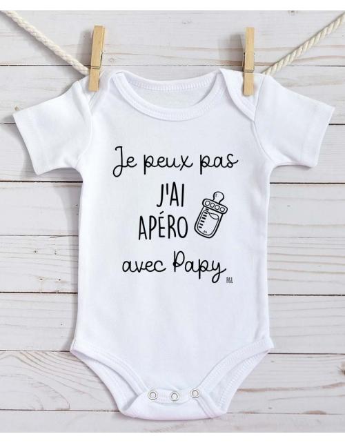 Body Bébé - Je peux pas j'ai Apéro avec Papy