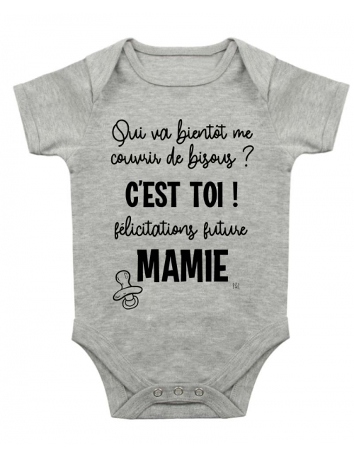 Body Bébé - Annonce Grossesse à Mamie