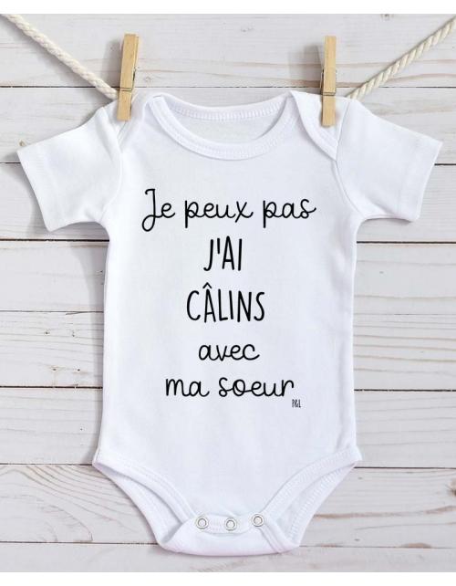 Body Bébé - Je peux pas j'ai Câlins avec ma Sœur