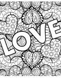 Coloriage Géant - Love