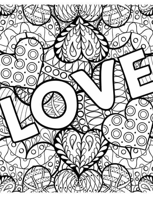 Coloriage Géant - Love