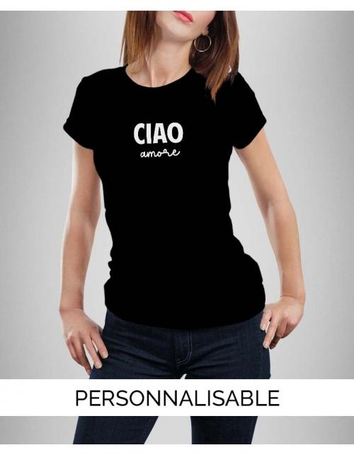 T-shirt femme Ciao Amore à personnaliser - Pilou et Lilou