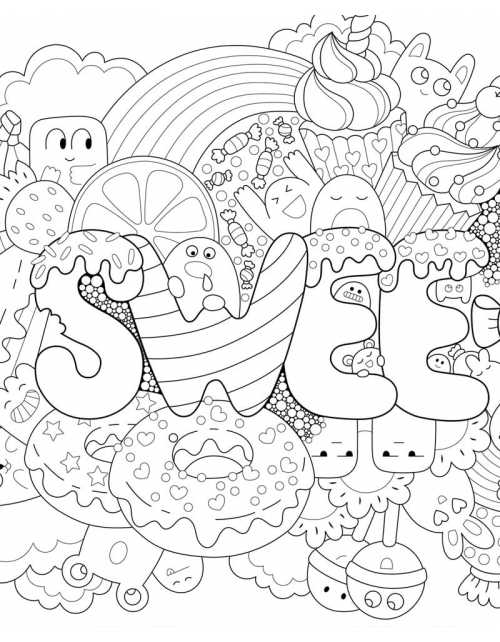 Coloriage - Sweet