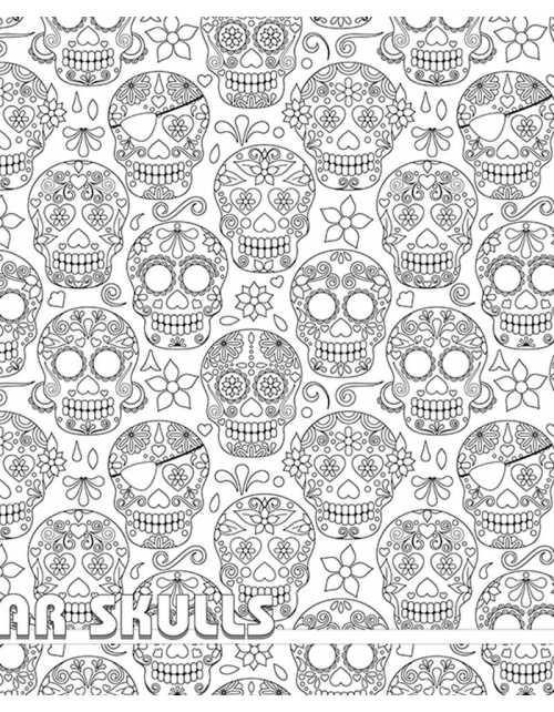 Coloriage Géant - Sugar Skull