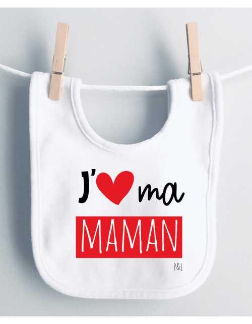 Bavoir J'aime Maman(s)