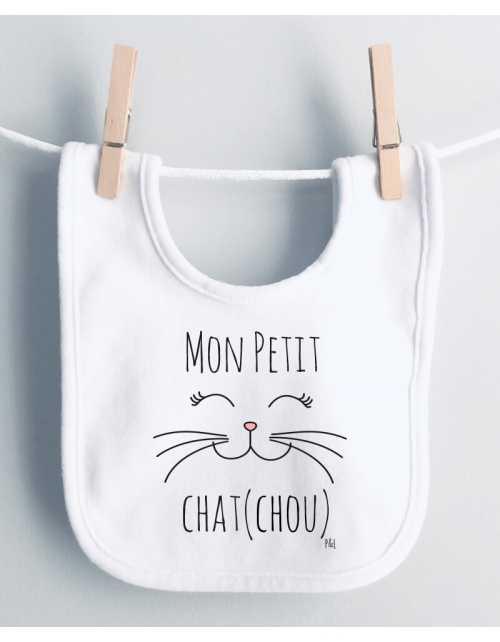 Bavoir Chat Chou