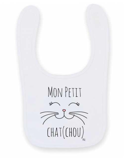 Bavoir Bébé Chat Chou