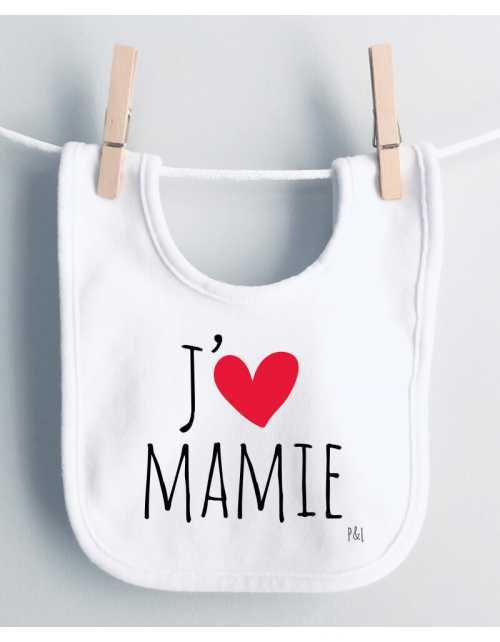 Bavoir J'aime Mamie - Papy