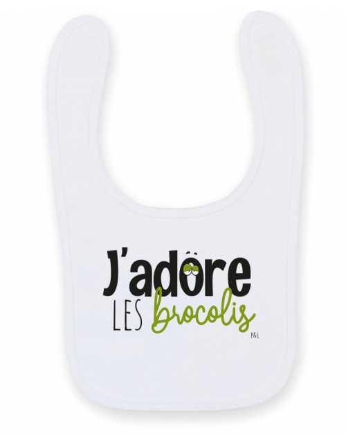 Bavoir J'adore les Brocolis
