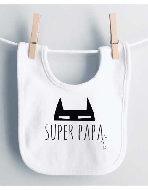 Bavoir Bébé Super Papa