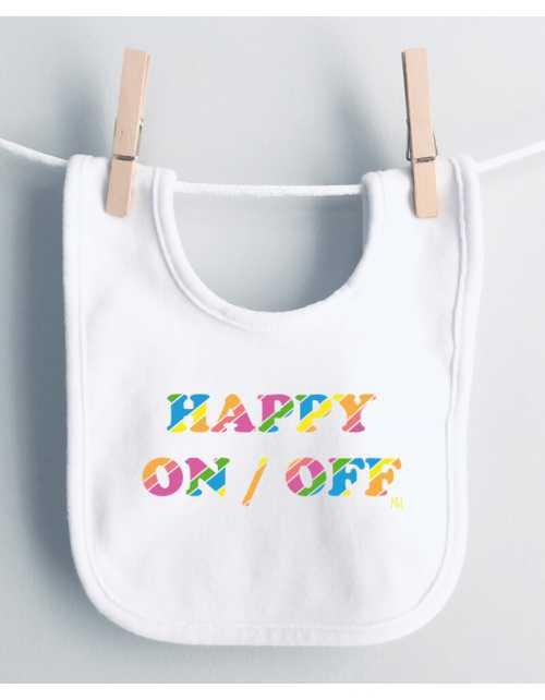 Bavoir Happy ON/OFF