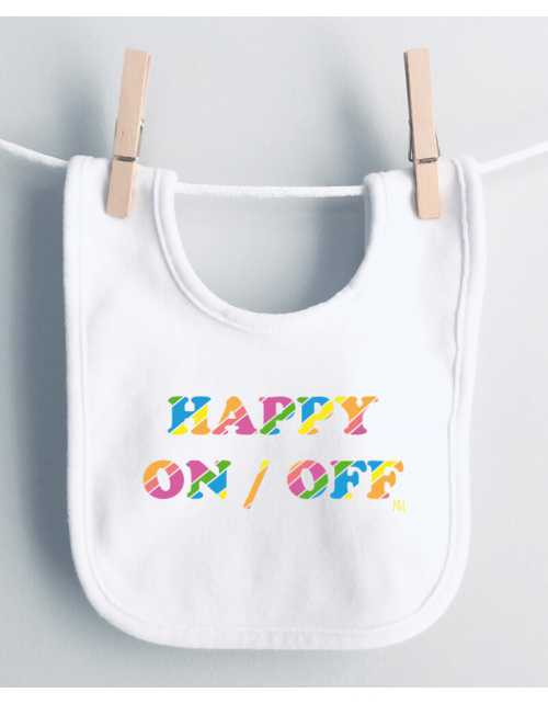 Bavoir Happy ON/OFF