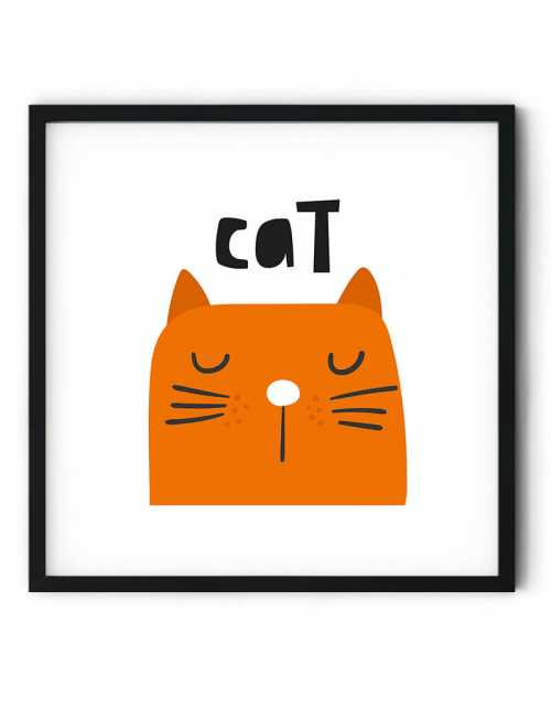 Collection Poster Mon Chat Orange