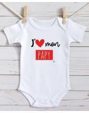 Body Bébé J'aime Mamie / Papy
