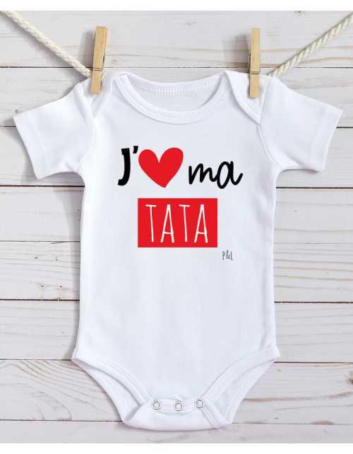 Body Bébé J'aime Tata / Tonton