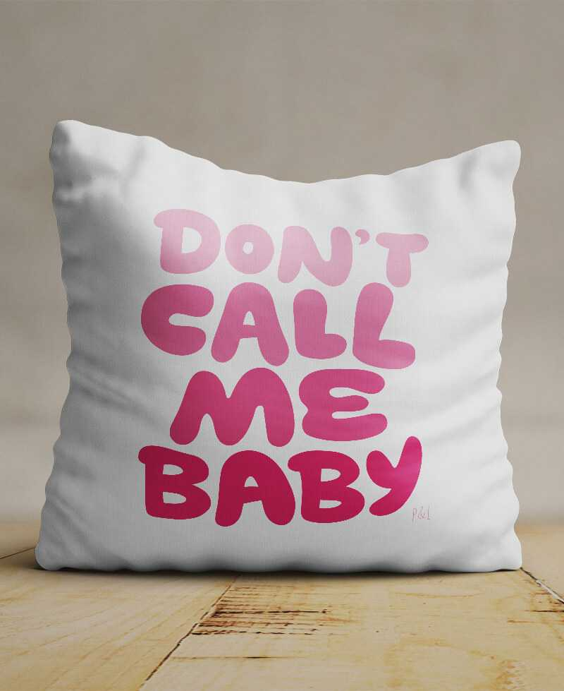 Coussin Don't call me