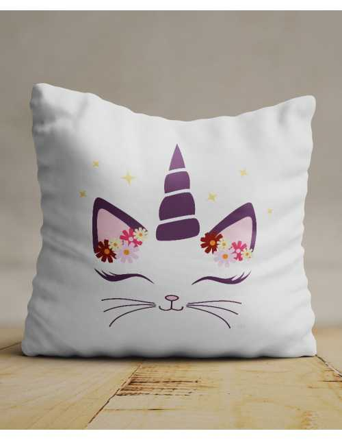 Coussin Chat Licorne