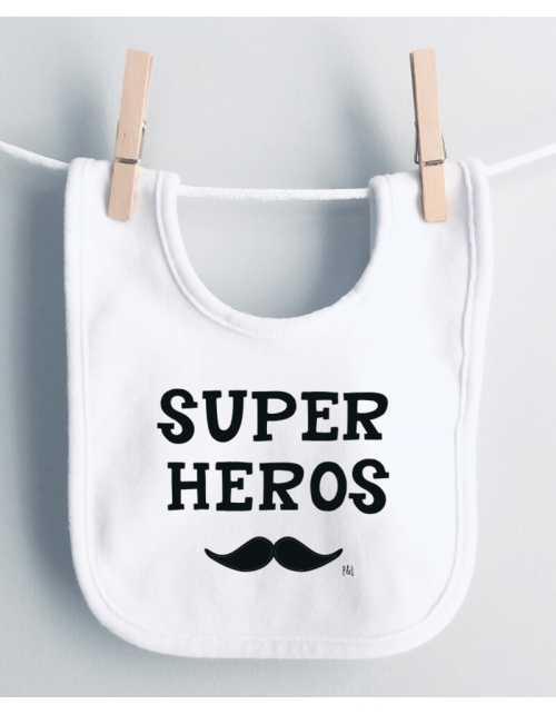 Bavoir Super Héros Moustache