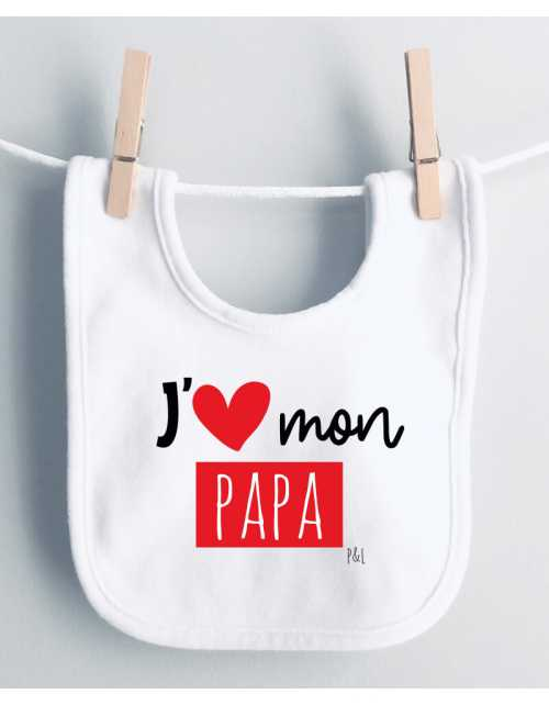 Bavoir J'aime Papa(s)