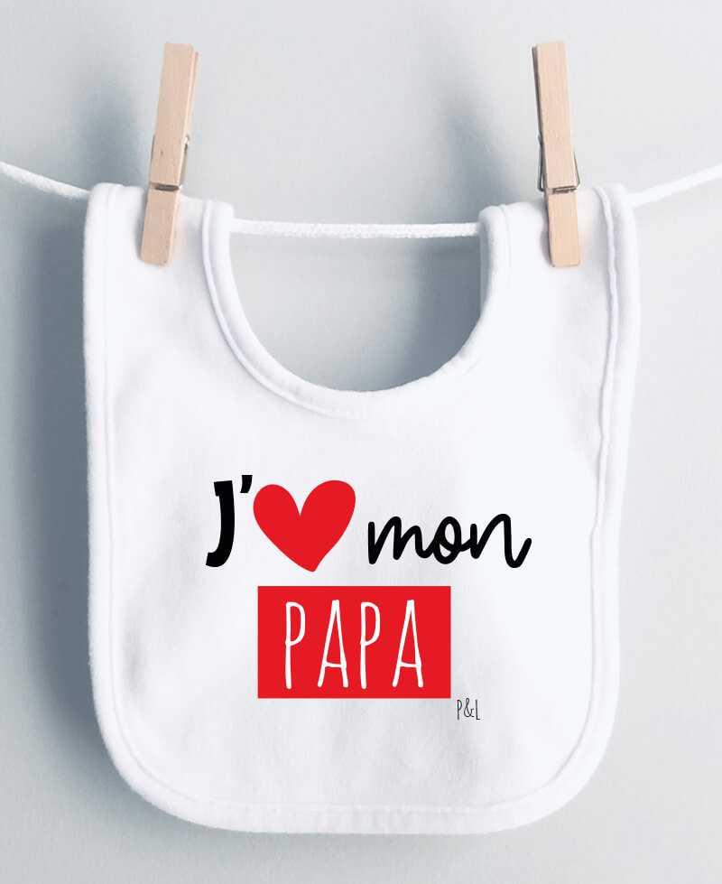 Bavoir J aime mon papa, mes papas
