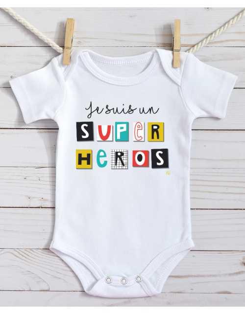 Body Bébé - Super Héros