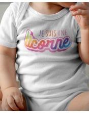 Body Bébé - Licorne Arc en Ciel