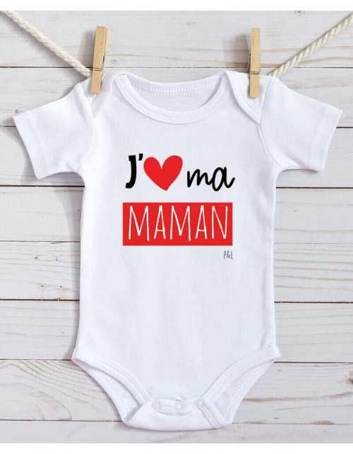 Body Bébé J'aime Maman(s)