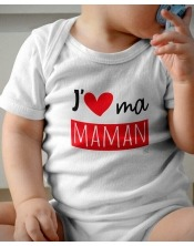 Body Bébé J Aime ma maman, mes mamans