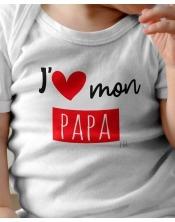 Body Bébé J aime mon papa, mes papas