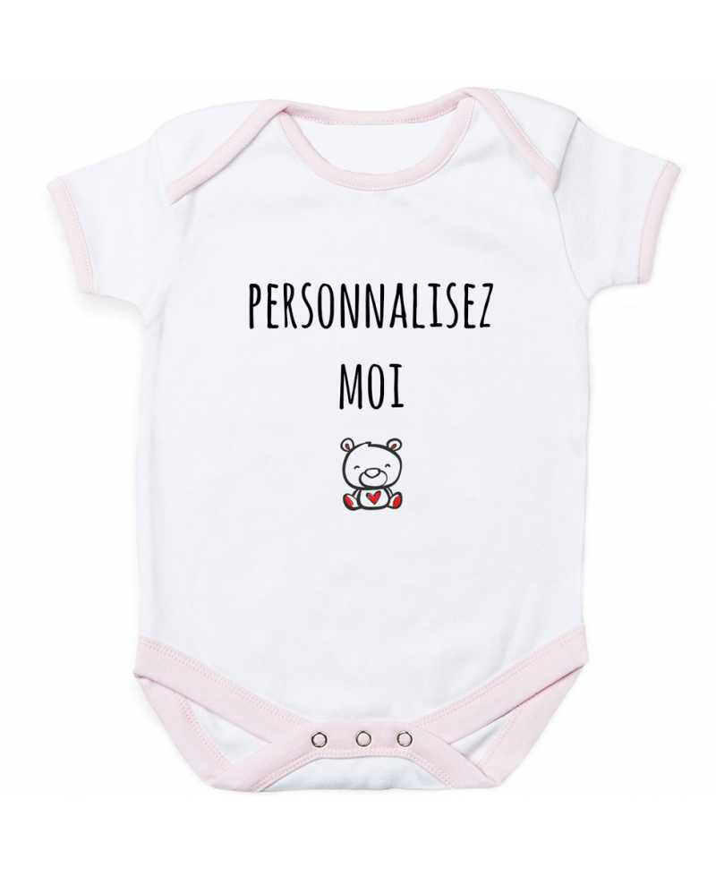 Body bébé contrasté à personnaliser
