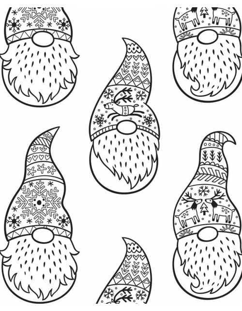 Coloriage Géant - Gnomes