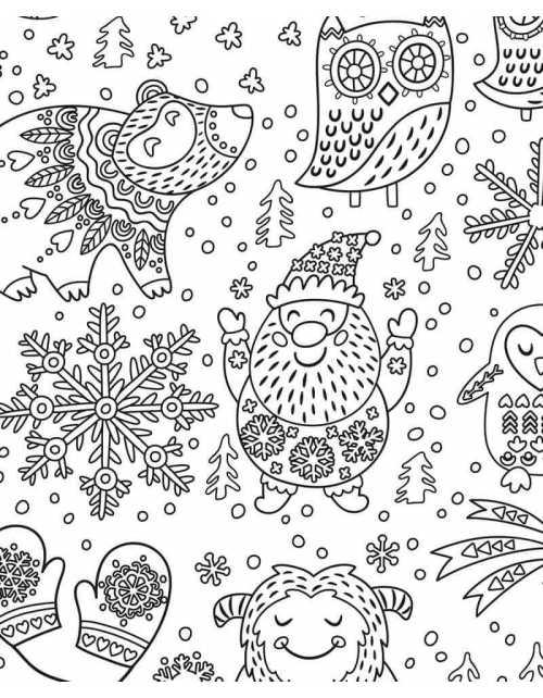 Coloriage Géant - Mandala de Noel