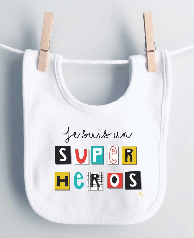 Bavoir Super Héros